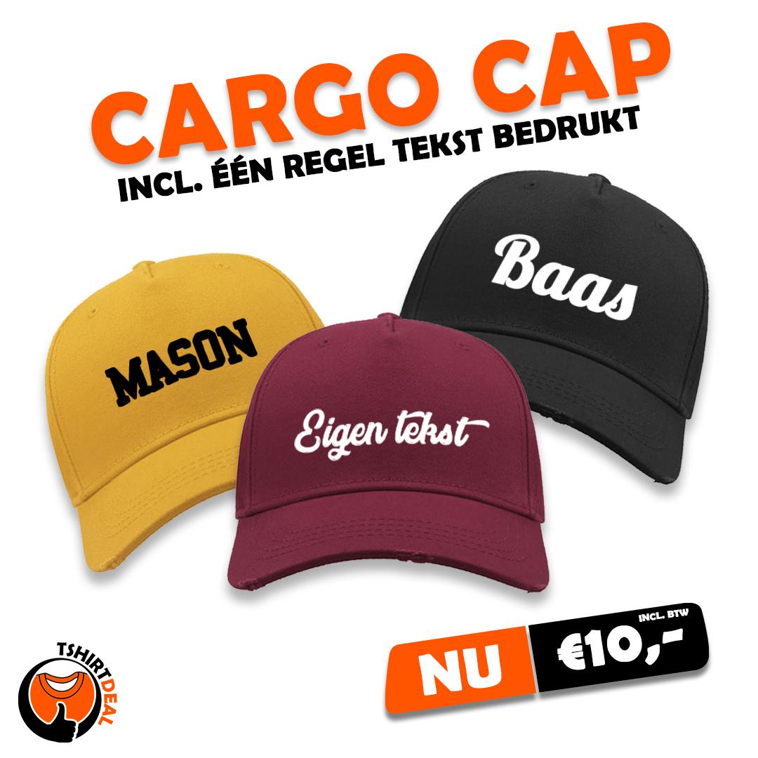 Cargo cap incl. tekst €10,-
