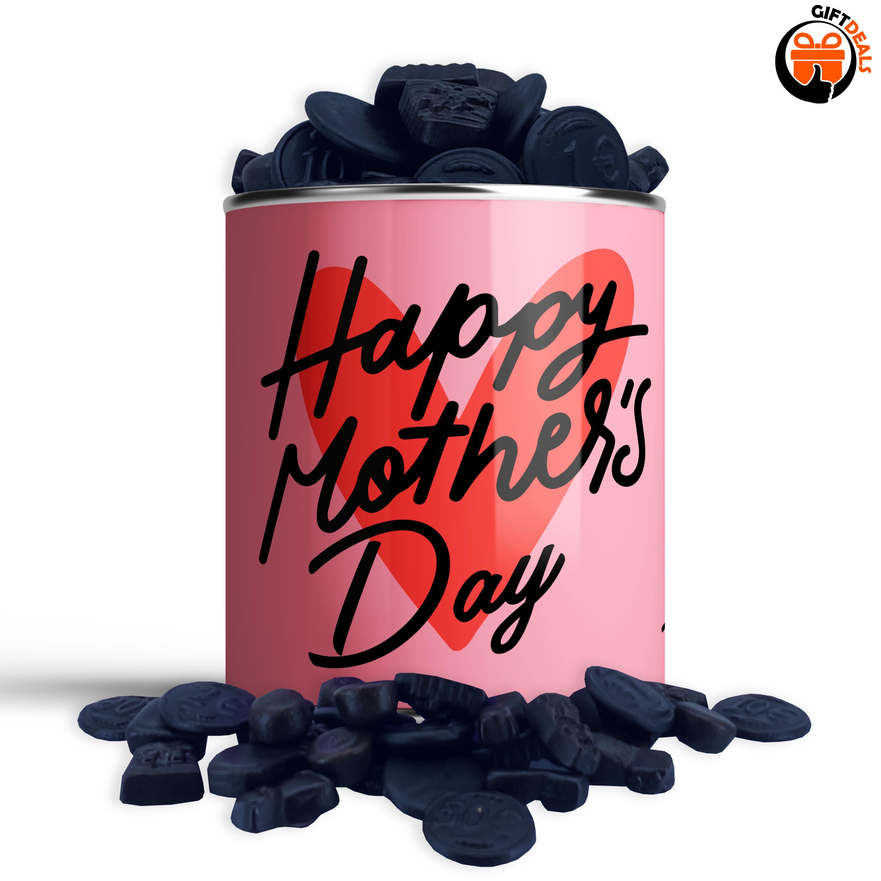 Snoepblik 'Happy Mother's Day' hart