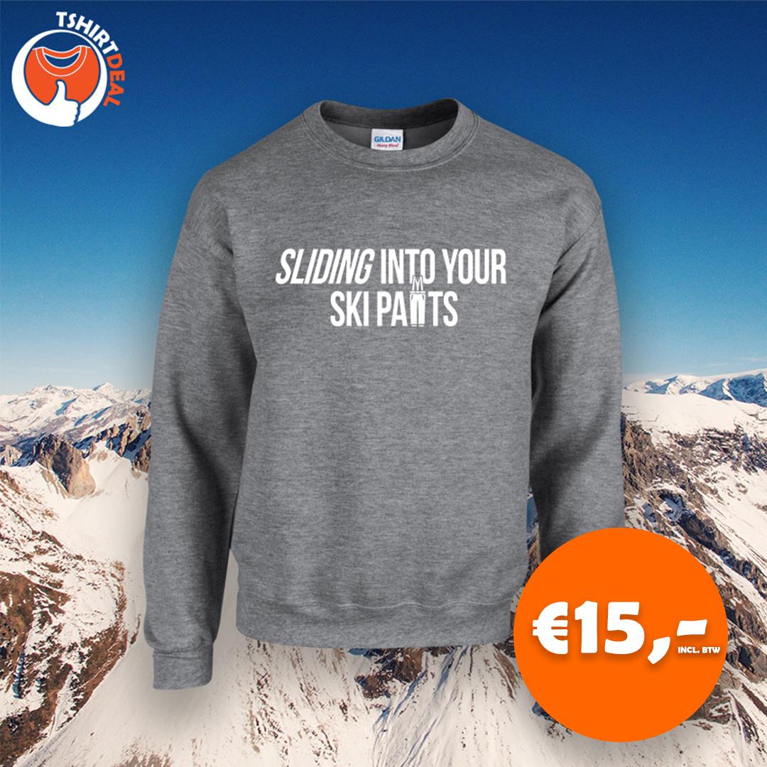Sliding into your ski pants