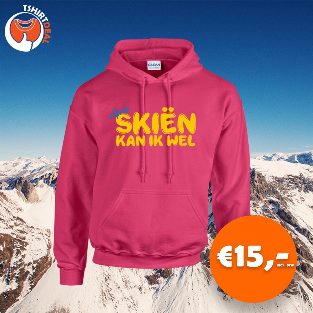 roze sweater apres skien kan ik wel