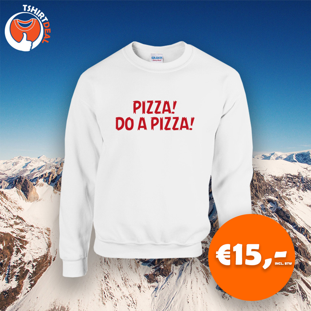 witte sweater do a pizza