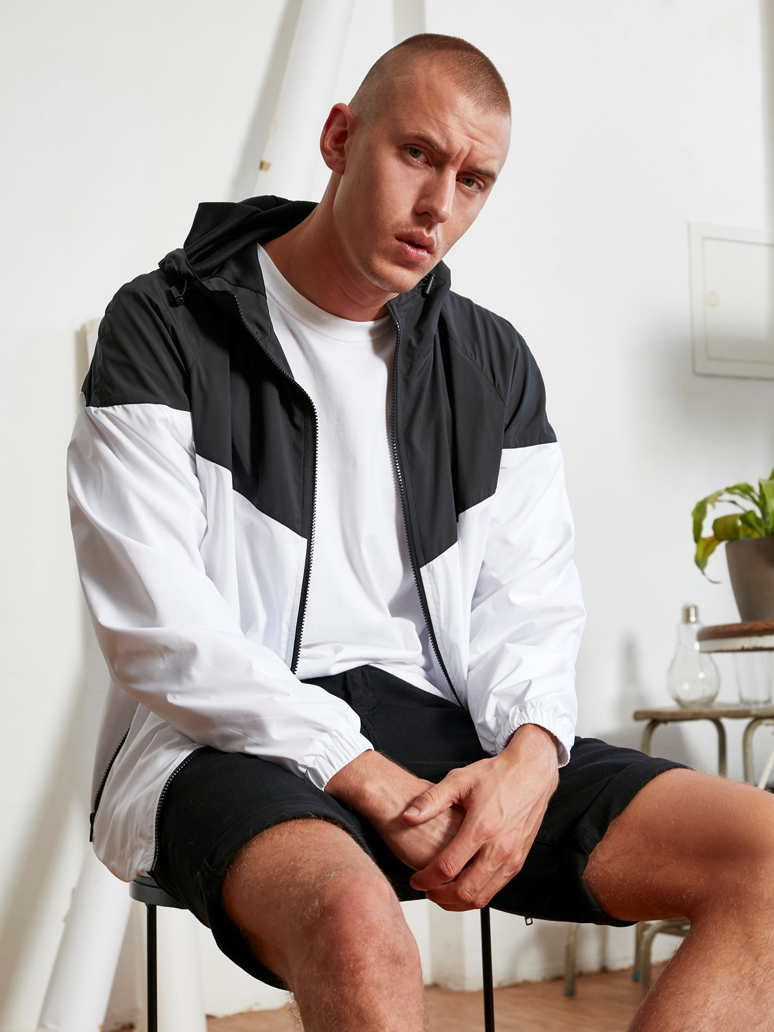Windrunner jacket twee kleuren