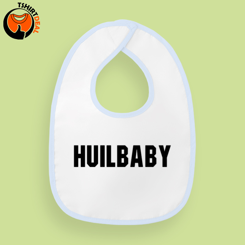 Slabbetje 'huilbaby' geborduurd