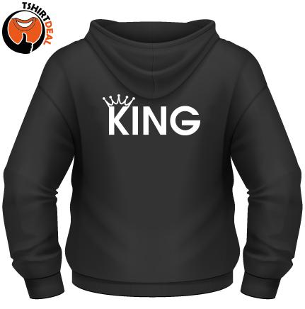 Zwarte Sweater met opdruk 'King''