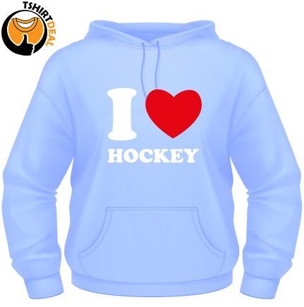 I love hockey hoodie volwassen   Bestel dit item nu