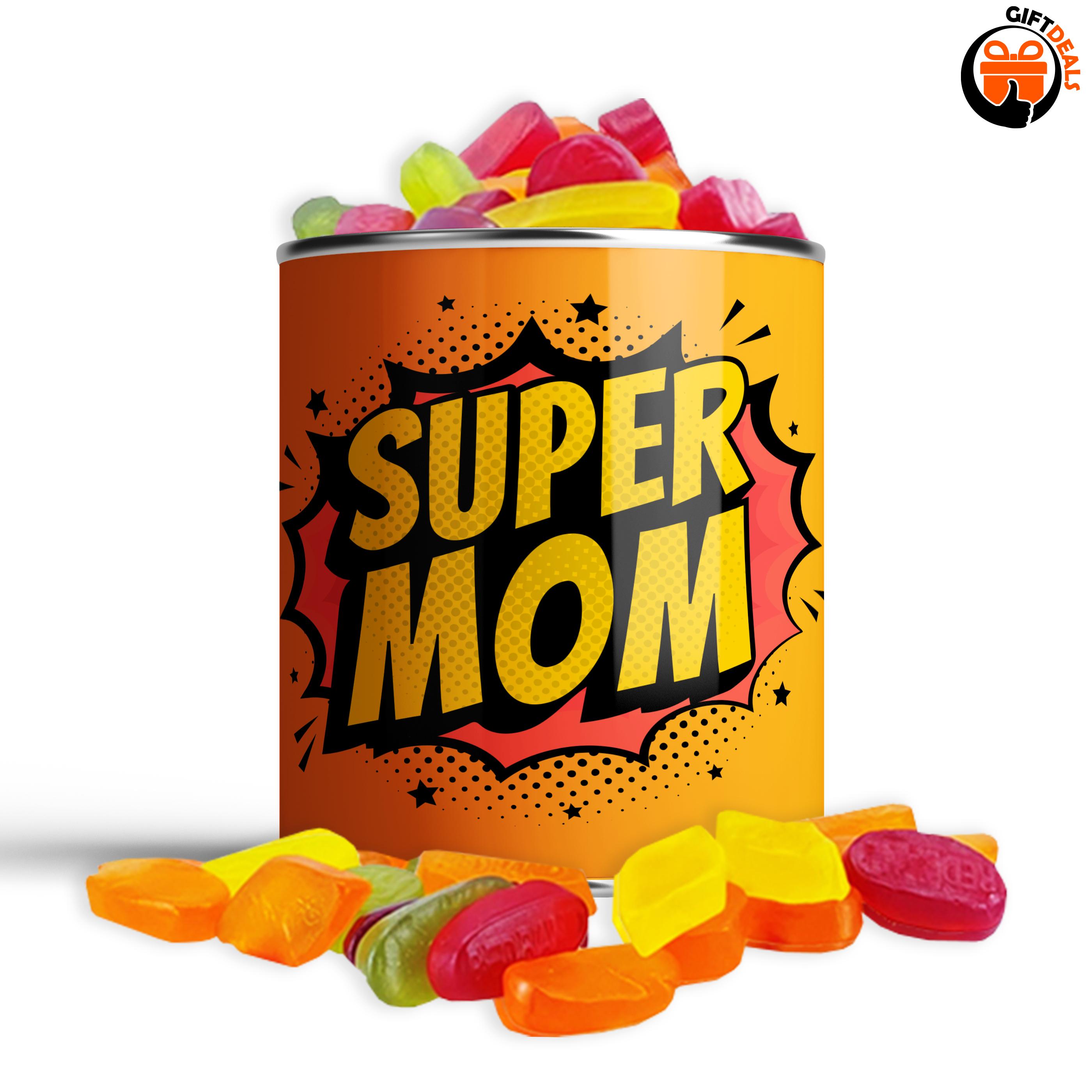 Snoepblik 'Super mom'