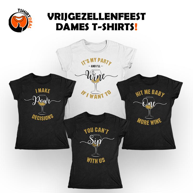 Vrijgezellenfeest dames T-shirts